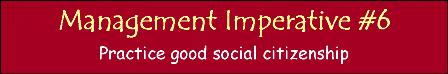 Management Imperative #6