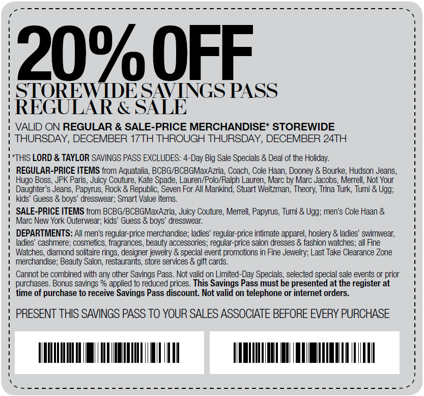 image about Lord and Taylor $15 Printable Coupon referred to as Lord and taylor coupon codes terms