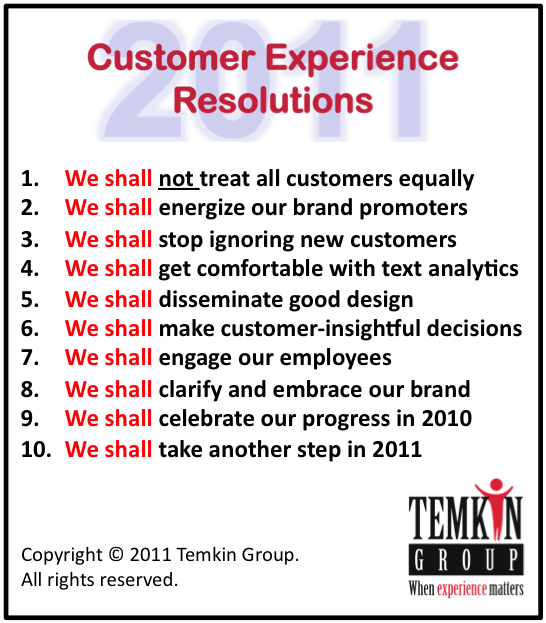 10 Customer Experience Resolutions For 2011