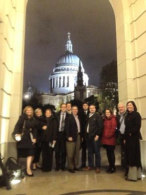 CXPA's UK Board of Ambassadors on the Way to DInner