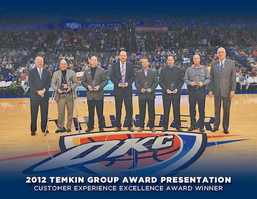 2012 - Thunder Temkin Award Presentation Photo