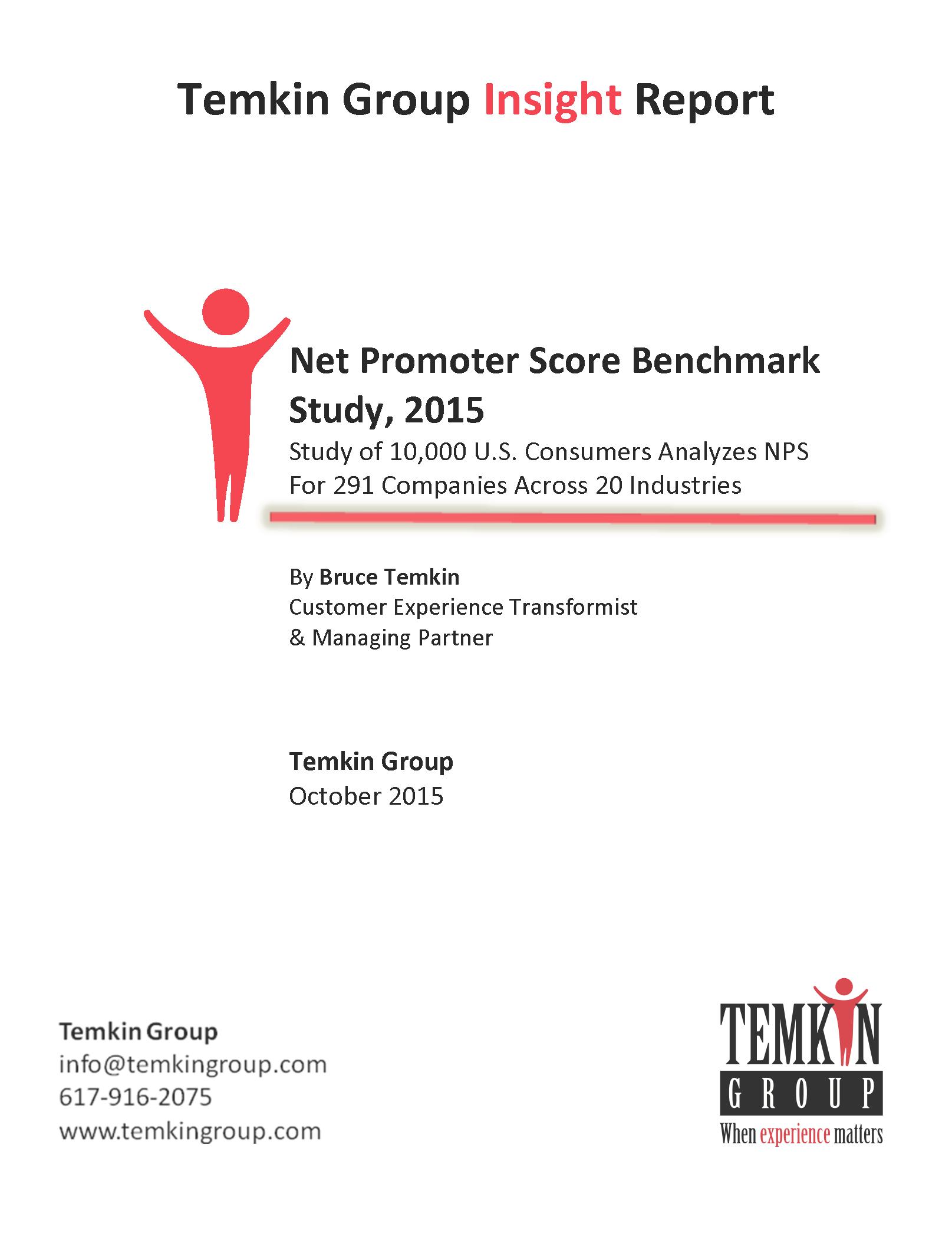 report  net promoter score benchmark study  2015
